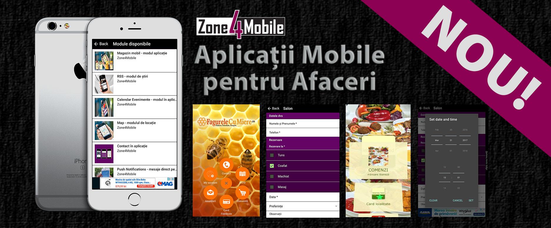 Realizare aplicații mobile